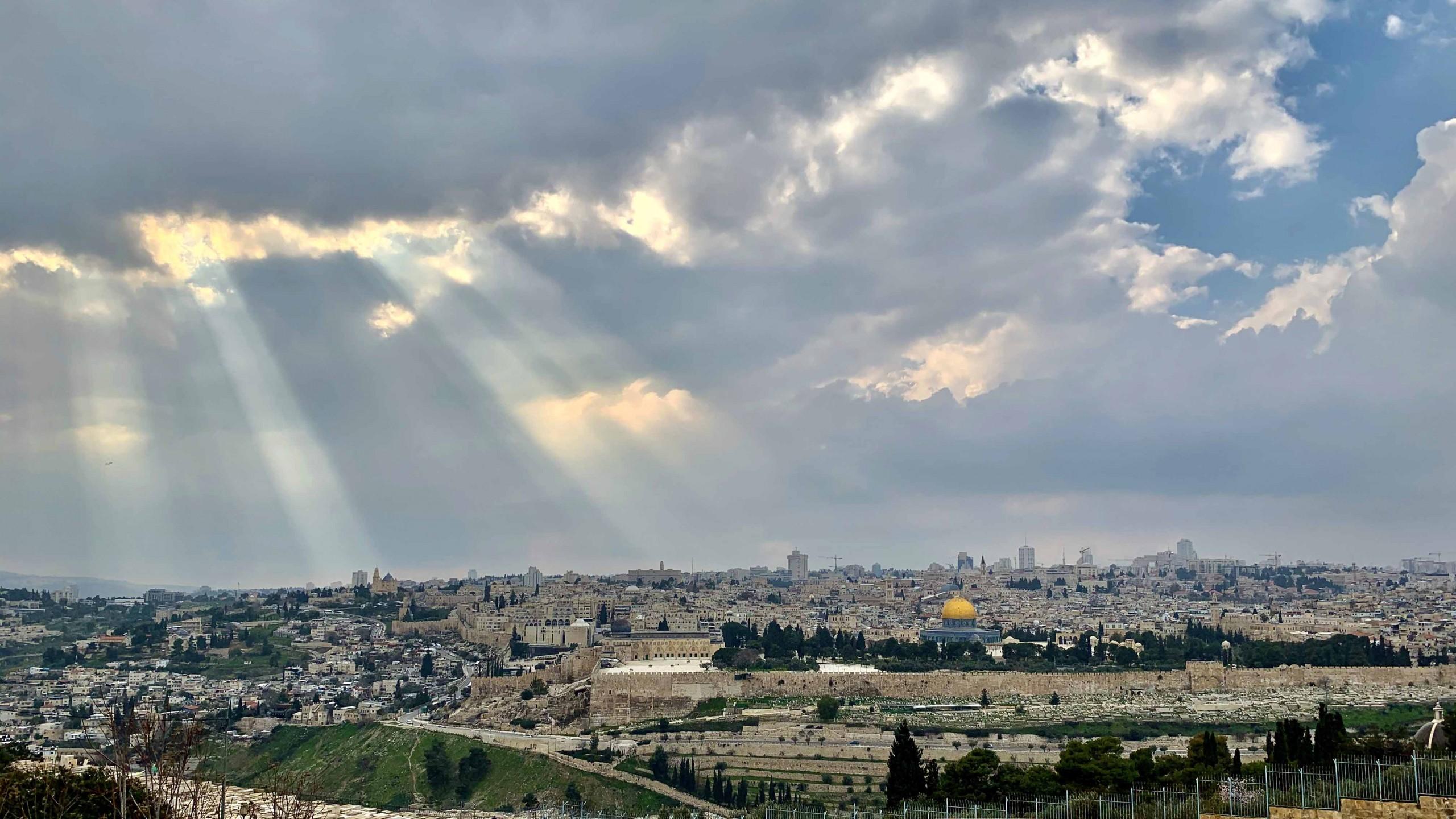 Jérusalem depuis le mont des oliviers